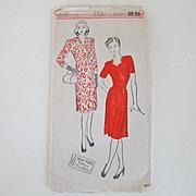 Rare Original Vintage 1940s New York Creation Pattern Princess Cut Dress Number 849