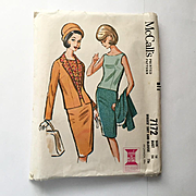 Vintage 1963 Boxy Skirt Suit Pattern by McCall's Number 7172
