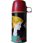 SALE Authentic Vintage 1962 Barbie Thermos Bottle 2025H with Red Cup Cap & Stopper