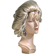 SOLD Gibson Girl Hair Styled Wig Frsoted Blonde Costume Halloween Theater