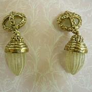 SALE Fabulous Chandelier Lantern  Vintage  Huge  Earrings