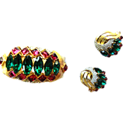 SALE Jewels of India Mogul Magnificent Bracelet and Earrings