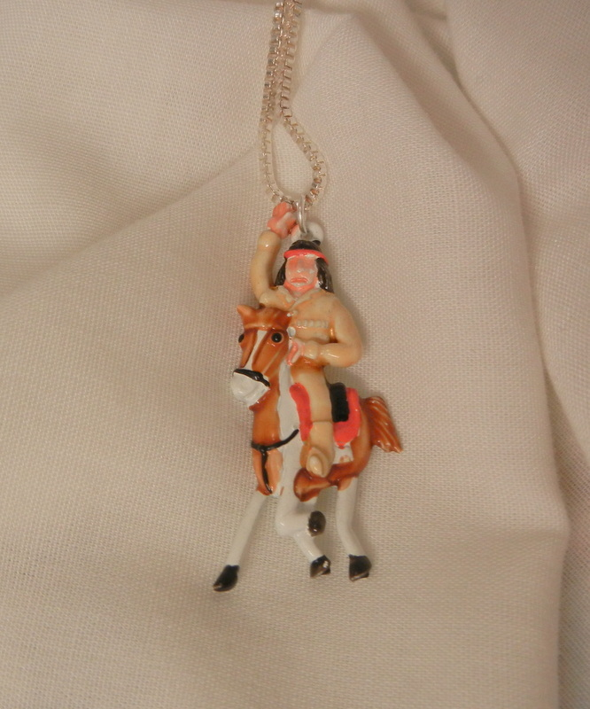 Whimsical Tonto on a horse Necklace