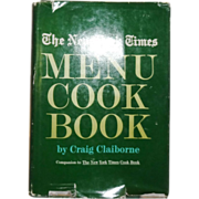 SOLD The New York Time Menu Cook Book by Craig Claiborne c. 1966