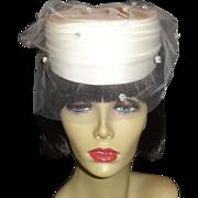 Elegant Vintage Off White Wedding Hat by Plaza Suite