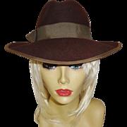 Rich Brown 100% Wool Hat by Betmar New York
