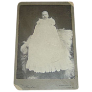 Vintage Photo of Baby in Christening Gown c. 1800's