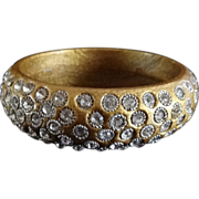 Vintage Rhinestone Encrusted Bangle Bracelet