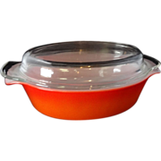 Fire King Red Hot Poppy 1 1/2 QT. Covered Casserole Dish
