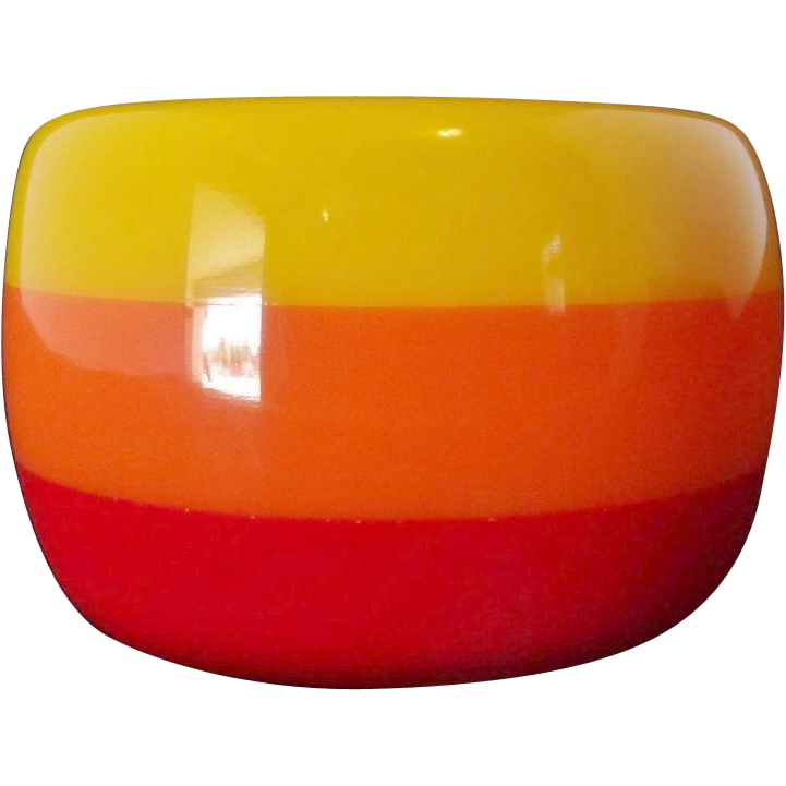 EXTRA WIDE Vintage Laminated Lucite Bangle Bracelet