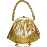 SALE Vintage Gold Lame` Evening Bag by Garay