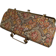 SALE Vintage Extra Long Tapestry Convertible Clutch Purse by HL