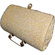 Vintage CordeBead Large Beaded Clutch Purse