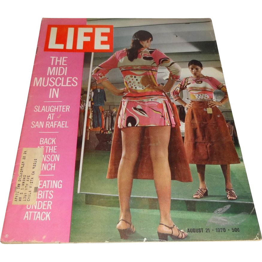 """Life Magazine - August 21 1970 - """"The Midi Muscles In"""""""
