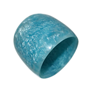 Extra WIDE Marbled Blue Resin Bangle Bracelet