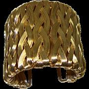 SALE Extra WIDE Woven Wire Cuff Bracelet
