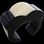 SALE Vintage Salvatore Ferragamo Lucite Cuff Bracelet