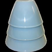 Fire King Turquoise Blue Splash Proof Bowl Set