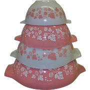 Vintage Pyrex Cinderella Bowls in the Gooseberry Pattern