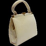 SALE Vintage Lucille de Paris Ostrich Skin Handbag