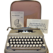 SALE Vintage Fifties Smith-Corona Skyriter Portable Typewriter with Original Instructions