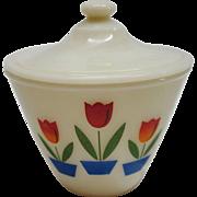 Vintage Fire King Tulip Grease Jar