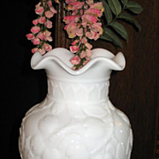 HALF OFF SALE Fenton Circa 1930s Flared Apple Tree Vase