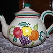 Vintage Italian Art Pottery Handpainted Teapot ~ Perugia, Italy