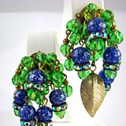 """Party Time """"Cha Cha"""" Earrings with Rhinestones"""