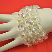 Erwin Pearl Four Strand Shimmering Glass Bead Bracelet
