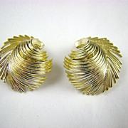 SALE Lisner Gold Tone Fringe Earrings