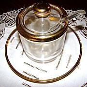 Vintage Jeanette Glass 4-Piece Jam Set