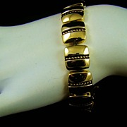 Napier Polished Gold Tone Bracelet
