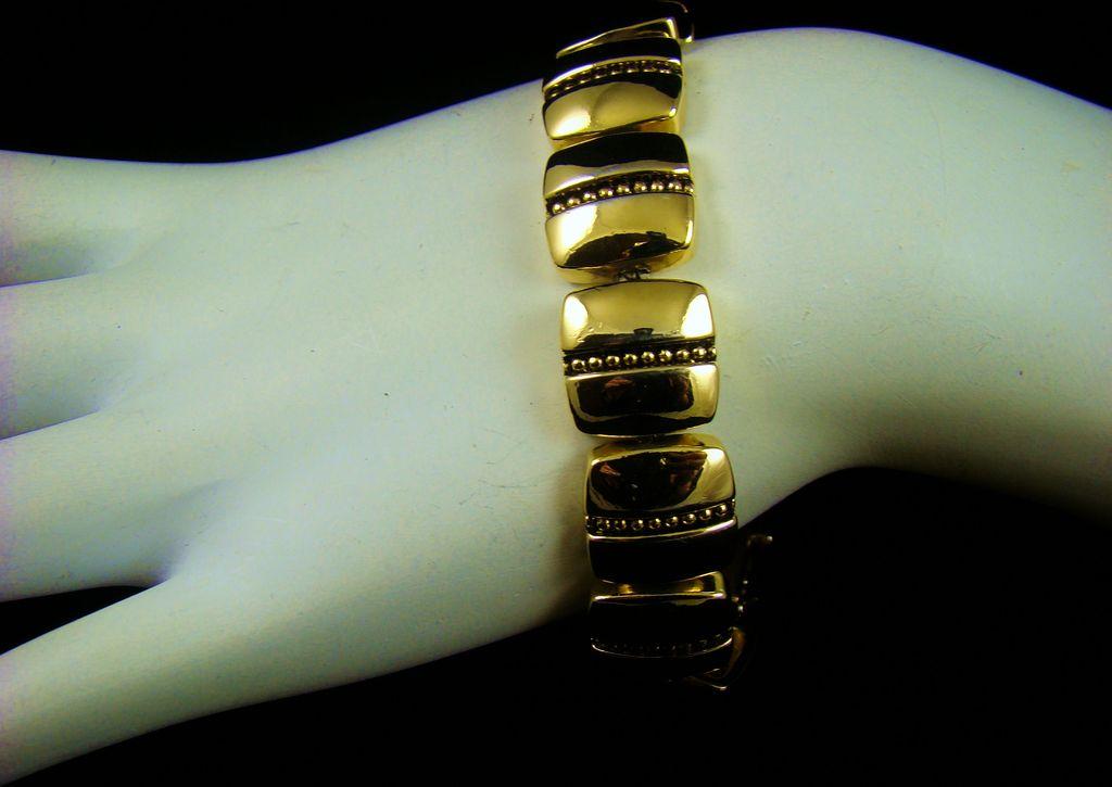 Napier Polished Gold Tone Bracelet
