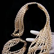 SALE Classic Luxurious Imitation Freshwater Pearl Demi Parure