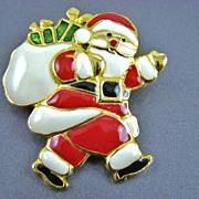 SALE Santa Claus Enamel Brooch