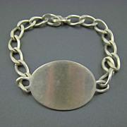 SALE Old Napier Sterling ID Bracelet ~ Unisex