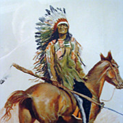 Fredrick Remington Sioux Chief Framed Print