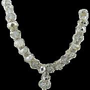 SALE Swarovski Crystal Comet Argent Light Bead Necklace with Rhinestone Rondelles ~ Lavaliere