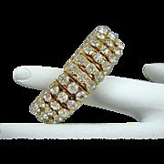 SALE Rare Gold Tone Empire Made Expansion Bracelet Circa 50s