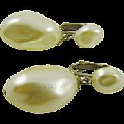 SALE Imitation Pearl Baroque Drop Wedding Earrings