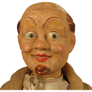 "SOLD 17"" German Papier Mache Man Character Doll c.1900"