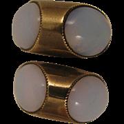 SALE Mid Century Modern Faux Moonstone Cufflinks