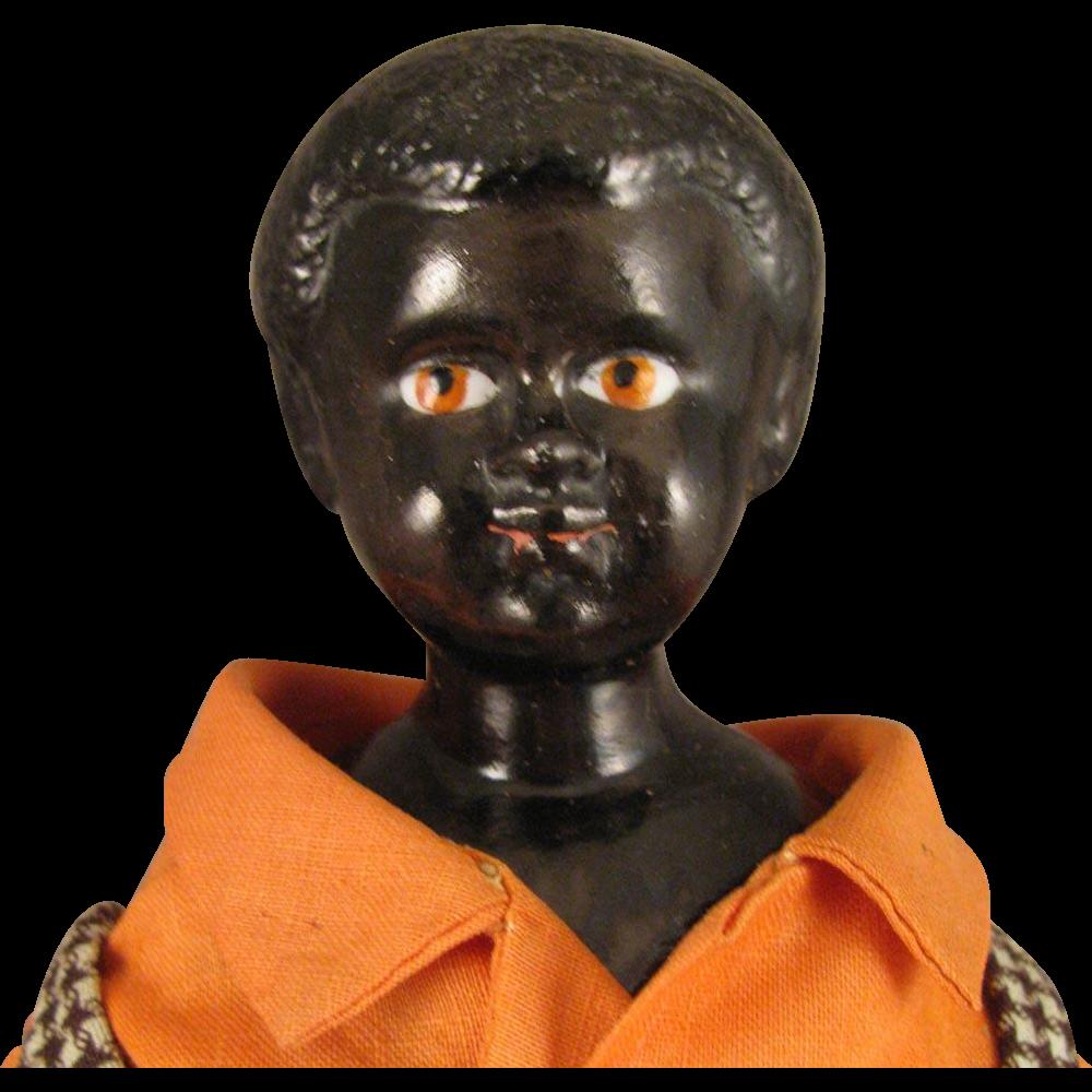 Antique German Black China Head Doll 10 From Virtu doll
