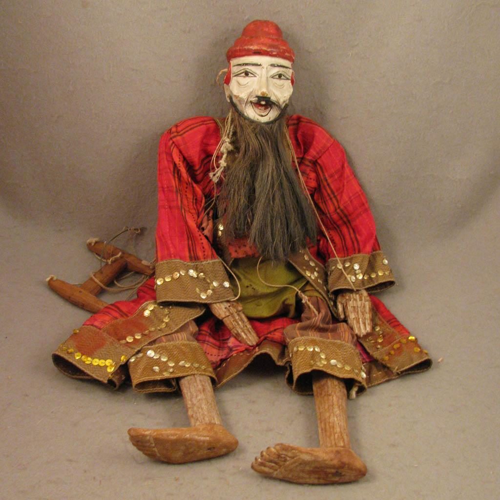 22 Quot Antique Burma Myanmar Wood Puppet Man Doll From Virtu