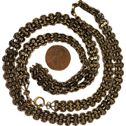 "SALE PENDING Victorian 8K Necklace Chain 27"""