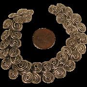SALE Vintage Sterling Silver Spirals Bracelet