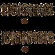 Antique 800 Silver Italian Gargoyle Faces Bracelet