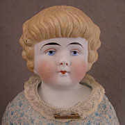 "SALE 18"" Antique German Blond Bisque Shoulder Head Doll Model 137"
