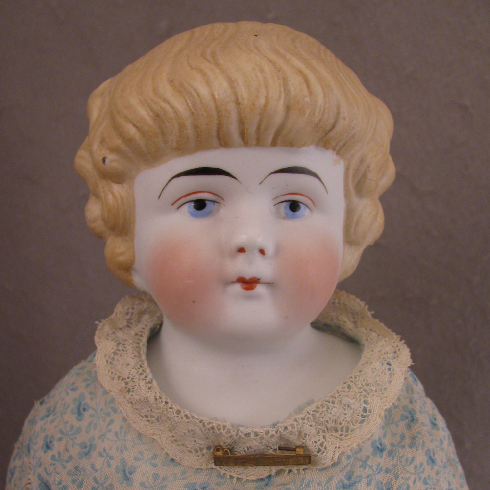 "18"" Antique German Blond Bisque Shoulder Head Doll Model 137"